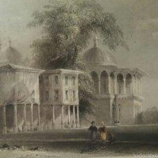 Arte: GRABADO DE W.H BARTLETT POR S. BRADSHAW - FOURTH COURT OF THE SERAÏ BOURNOU - ENMARCADO. Lote 54337553