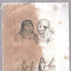Arte: GRABADOS DE KAMTCHADALES. 18,8 X 27 CM. Lote 54348567