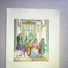 Arte: GRAVADO ORIGINAL ILUMINADO A MANO D'IVORI FIRMADO EN PLANCHA. Lote 54357648