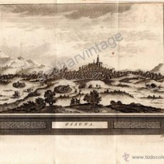 Arte: GRABADO CON VISTA DE LA CIUDAD DE OSUNA, SEVILLA. AÑO 1707. MEDIDA 206X156MM. Lote 54374142