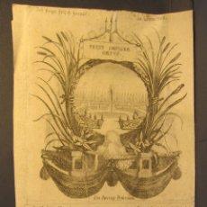 Arte: GRABADOS CHARLES LEBRUN (S.XVII)) PARA EL LIBRO TAPISSERIES DU ROI. 30 X 13,50 CM. Lote 54453512