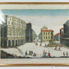 Arte: VISTA ÓPTICA, GRABADO DEL TEATRO MARCELLO DE ROMA, MARCO: 37X49CM.. Lote 54541829