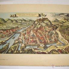 Arte: COPIA DE GRABADO. GRAECIUM VULGO GRATZ METROPOLIS STYRIAE. JANSSON GERMANIA SUP. 1657. Lote 54545241