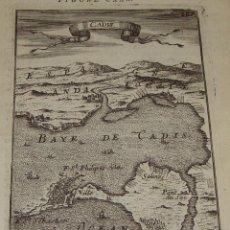 Arte: ANTIGUO GRABADO DE LA BAHÍA DE CÁDIZ. 1685. MALLET, A. BAYE DE CADIS.. Lote 54678790