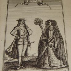 Arte: ANTIGUO GRABADO. 1685. MALLET, A. ESPAGNOLS. ESPAÑOLES.. Lote 54679113