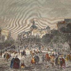 Arte: GRABADO. S.XIX. LA CALLE DE ALCALÁ - MADRID. DISEÑO FRANCISCO REINHARD.. Lote 54760743