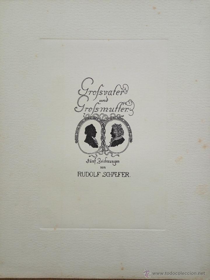 SILHOUETTES, GRABADO ORIGINAL DE RUDOLF SCHAEFER, GRAN CALIDAD, 33 X 25 CM, CIRCA 1910 (Arte - Grabados - Contemporáneos siglo XX)