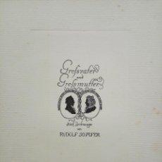 Arte: SILHOUETTES, GRABADO ORIGINAL DE RUDOLF SCHAEFER, GRAN CALIDAD, 33 X 25 CM, CIRCA 1910. Lote 54780072