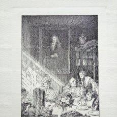 Arte: GRABADO ORIGINAL DE RUDOLF SCHAEFER, GRAN CALIDAD, 33 X 25 CM, CIRCA 1910. Lote 54780105