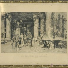 Arte: J2-030. LA ELECCION DE MODELO. GRABADO SOBRE PAPEL. FORTUNY SEGUI. 1874.. Lote 54345750