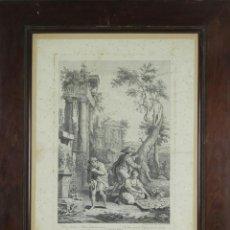 Arte: J3-034. LA INDUSTRIA. GRABADO SOBRE PAPEL. GIUSEPPE ZOCCHI. SIGLO XVIII.. Lote 53117282