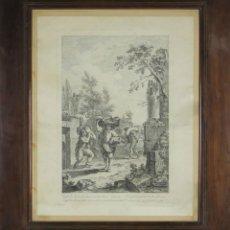Arte: J3-035. PREMIO AL TRABAJO. GRABADO SOBRE PAPEL. GIUSEPPE ZOCCHI. SIGLO XVIII.. Lote 53117740
