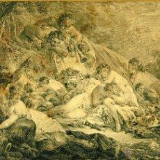 Arte: I1-007. FAUNO Y NINFAS. GRABADO SOBRE PAPEL. JEAN DAULLÉ. FRANCIA. 1703-17063.. Lote 51158580