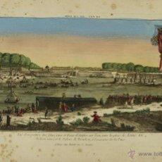 Arte: GR-21. CELEBRACION DE LA PAZ. GRABADO COLOREADO SOBRE PAPEL. SIGLO XVIII.. Lote 50135847