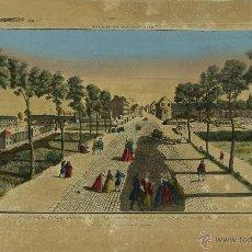 Arte: GR-22. CALLE DE SAINT DENIS. PARIS. GRABADO COLOREADO SOBRE PAPEL. SIGLO XVIII.. Lote 50136041