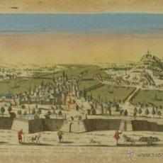 Arte: GR-32. VISTA DE LYON. GRABADO COLOREADO SOBRE PAPEL AL COBRE. SIGLO XVIII.. Lote 50146078