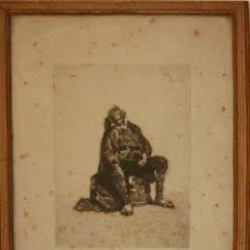 Arte: B2-065 - EL MENDIGO. AGUAFUERTE. MARIANO FORTUNY. ESPAÑA. 1869. Lote 47975483