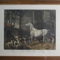 Arte: I3-002. J. HARRYS. GRABADO EN COLOR. LEFT AT HOME. BASADO EN UN CUADRO DE R. DAVIS. S XIX.. Lote 117679742
