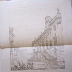 Arte: AÑO 1840 * ROMA PLAZA DEL CAPITOLIO * GRABADO EN GRAN LAMINA DE 59 CM X 42 CM . Lote 54832000