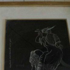 Arte: CURIOSO GRABADO ORIGINAL SOBRE YESO. Lote 54853308