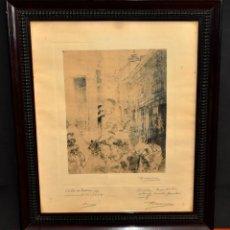 Arte: RICARDO MARIN LLOVET (BARCELONA, 1874 - MÉXICO, 1955) GRABADO FIRMADO A PUÑO POR EL ARTISTA. Lote 54906125