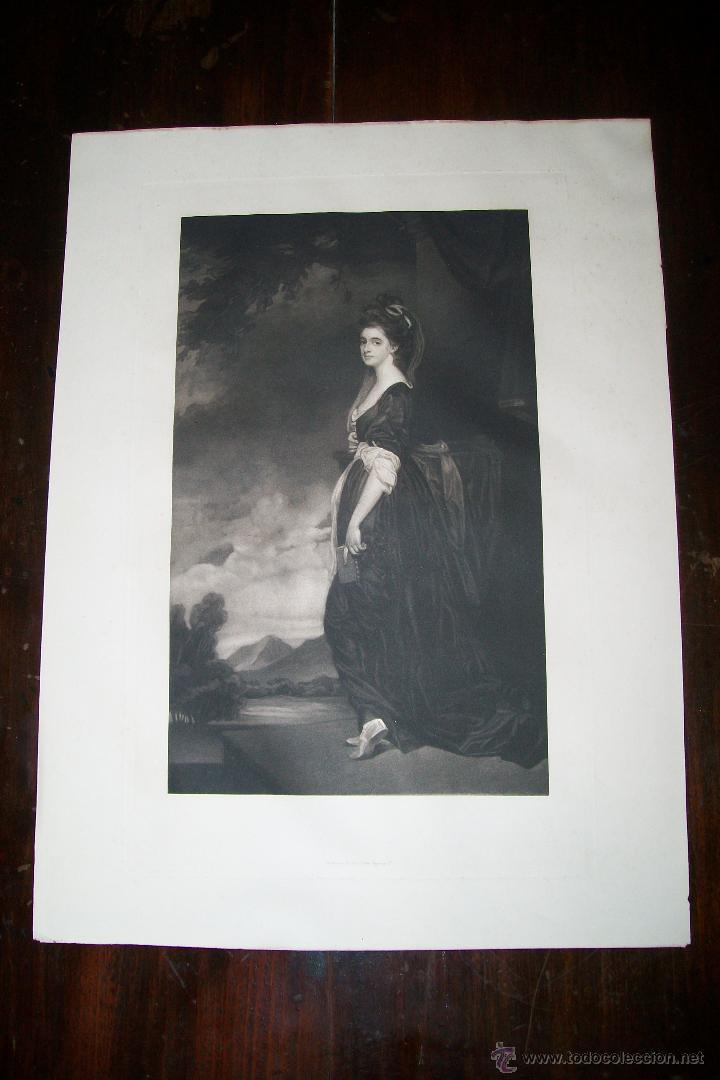 LADY ISABELLA HAMILTON J.WALKER - ROMNEY PHOTOGRAVURE BY SWAN ELECTRIC ENGRAVING CO (Arte - Grabados - Modernos siglo XIX)