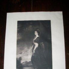 Arte: LADY ISABELLA HAMILTON J.WALKER - ROMNEY PHOTOGRAVURE BY SWAN ELECTRIC ENGRAVING CO. Lote 54993568