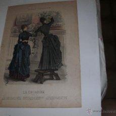 Arte: LA ESTACION - GRABADO FRANCES - SIGLO XVIII -. Lote 55018108