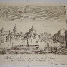 Arte: ANTIGUO GRABADO DE CADIZ. 1745. PALAZZO REALE NELLA GRAN PIAZZA DI CADICE NELL' ANDALUSIA REGNO DI. Lote 55036604