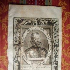 Arte: 1627-PEDRO PEREZ DE GUZMAN.CONDE DE OLIVARES.GRABADO ORIGINAL. Lote 55039036