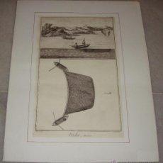 Arte: GRABADO ANTIGUO DE OFICIOS. PESCADORES. 1775. PECHE, ALOZIERE.. Lote 55071185