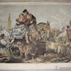 Arte: ANTIGUO GRABADO. LA FERIA DE SEVILLA. 1859. THE ILLUSTRATED LONDON NEWS. PAINTED BY J. A. PHILIP. Lote 55071722