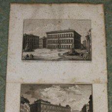 Arte: GR-084. DOS GRABADOS. GIUSEPPE VASI (1710-1782). PALACIOS DE ROMA. SIGLO XVIII. Lote 55077253