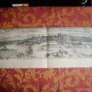 Arte: 1580-MAPA PLANO VALLADOLID. GRABADO ORIGINAL DE BRAUN-HOGENBERG. GRANDE. Lote 55121876