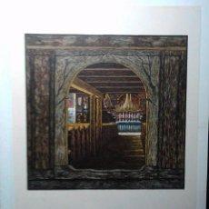 Arte: XILOGRAFÍA KAREL VIK. 1933. GRABADO XILOGRÁFICO A COLOR. FIRMADO EN PLANCHA. HUELLA 17,2 X 16.8 CM. . Lote 55144870