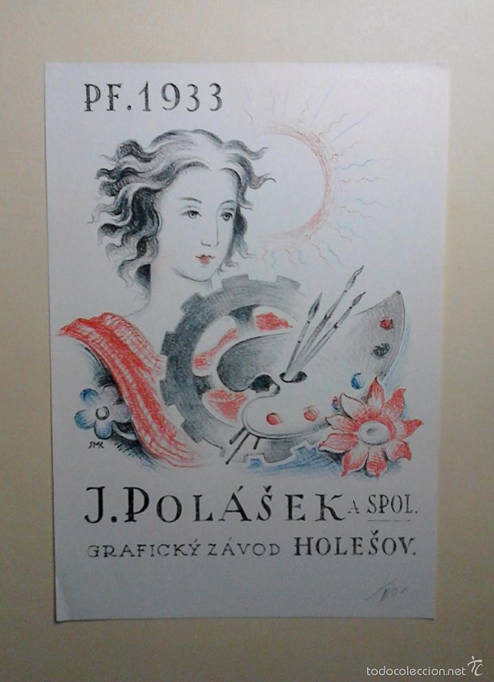 Arte: XILOGRAFÍA KAREL VIK. 1933. Grabado xilográfico a color. Firmado en plancha. Huella 17,2 x 16.8 cm. - Foto 5 - 55144870