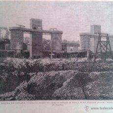 Arte: VIZCAYA - FABRICA DE HIERROS DEL MARQUES DE MUDELA EN EL DESIERTO (1883). Lote 55224458