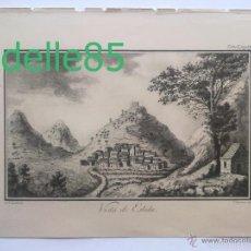 Arte: VISTA DE ESLIDA GRABADO DE CAVANILLES IMPRENTA REAL, 1795-1797. Lote 55307995