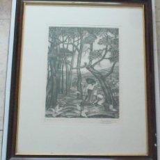 Arte: AGUAFUERTE JULIO PRIETO NESPEREIRA ( 1896-1991). P/A. FIRMADO Y DEDICADO.. Lote 55341246