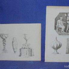 Arte: ANTIGUOS GRABADOS PLANCHA. ARTE GRIEGO. MEDIDA DE UNO 18X26 CM.. Lote 55341332