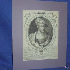 Arte: GRABADO ESCUELA FRANCESA SIGLO XVII. TIERRY II REY DE FRANCIA. POR NICOLAS LARMESSIN.. Lote 55348915