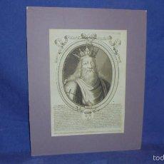 Arte: GRABADO ESCUELA FRANCESA SIGLO XVII. CLODION REY DE FRANCIA. POR NICOLAS LARMESSIN.. Lote 55349027