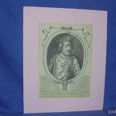 Arte: GRABADO ESCUELA FRANCESA SIGLO XVII. PEPIN REY DE FRANCIA. POR NICOLAS LARMESSIN. . Lote 55349174