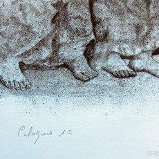 Arte: PECULIAR GRABADO TITULADO - FIRMADO Y FECHADO - COLÓQUIO 1º - PRUEBA DE AUTOR - AÑO 84 - ENMARCADO. Lote 55539336