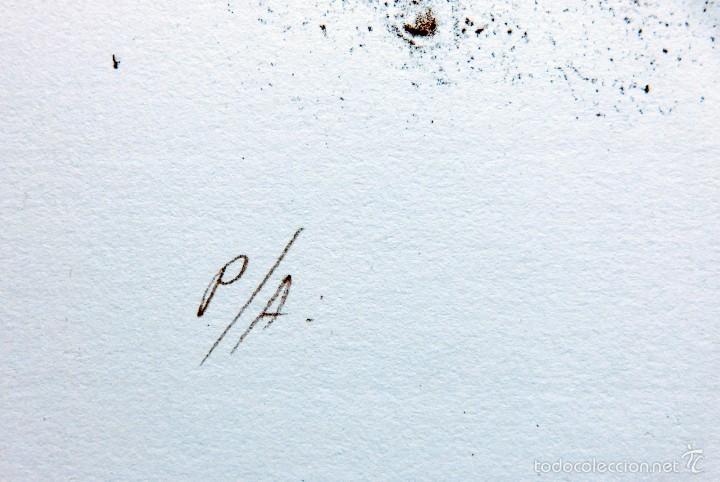 Arte: PECULIAR GRABADO TITULADO - FIRMADO Y FECHADO - COLÓQUIO 1º - PRUEBA DE AUTOR - AÑO 84 - ENMARCADO - Foto 4 - 55539336