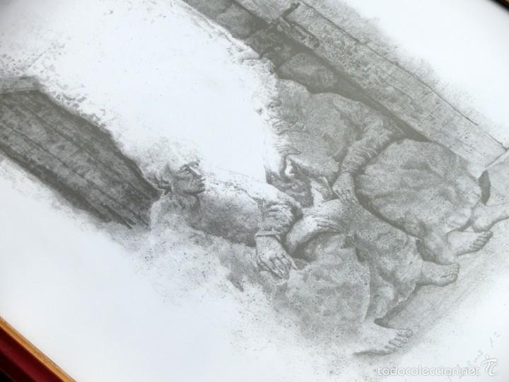 Arte: PECULIAR GRABADO TITULADO - FIRMADO Y FECHADO - COLÓQUIO 1º - PRUEBA DE AUTOR - AÑO 84 - ENMARCADO - Foto 7 - 55539336