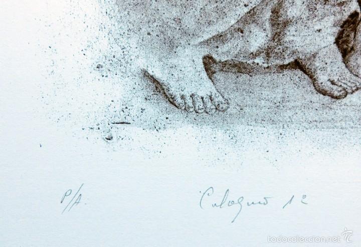 Arte: PECULIAR GRABADO TITULADO - FIRMADO Y FECHADO - COLÓQUIO 1º - PRUEBA DE AUTOR - AÑO 84 - ENMARCADO - Foto 10 - 55539336