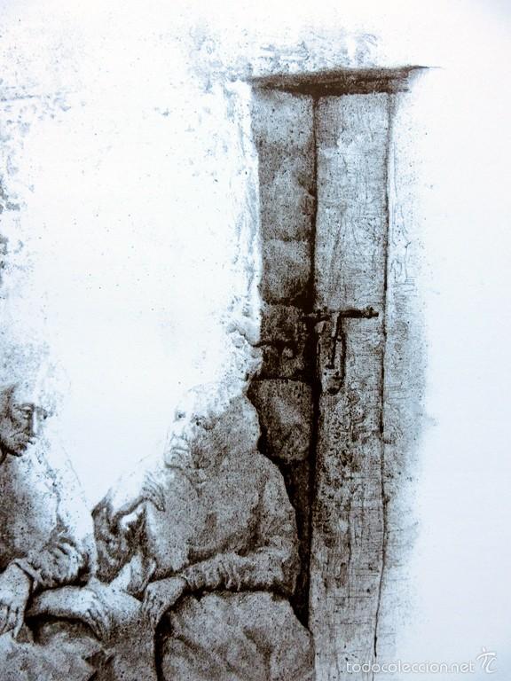 Arte: PECULIAR GRABADO TITULADO - FIRMADO Y FECHADO - COLÓQUIO 1º - PRUEBA DE AUTOR - AÑO 84 - ENMARCADO - Foto 17 - 55539336