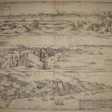 Arte: MAGNIFICO GRABADO DE SEVILLA, CÁDIZ Y MÁLAGA. CIVITATIS ORBIS TERRARUM. 1572.. Lote 55682776