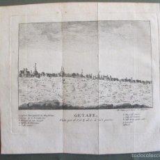 Arte: GETAFE, GRABADO ORIGINAL EN COBRE DEL SIGLO XVIII. Lote 55713054